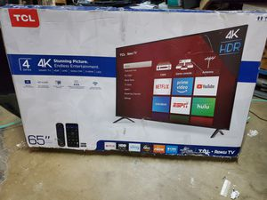 NEW!! 65' TCL|4K UHD/ HDR ROKU SMART TV 2019!!! for Sale in Grand Prairie, TX