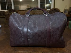 Gucci Burgundy Monogram Canvas Boston Bag for Sale in Lakeside, CA