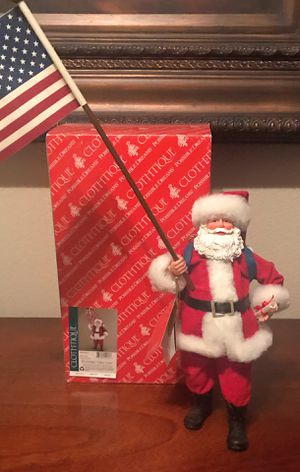 "New Clothtique Santa Claus "" We Hold These Truths "" Figurine 2008 for Sale in Frisco, TX"
