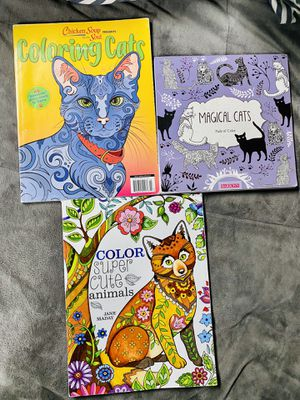 Cats and animals coloring books for Sale in Puyallup, WA