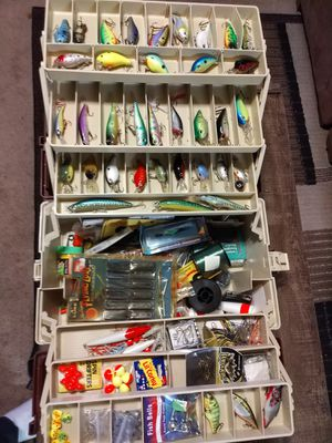 Fishing tackle box loaded for Sale in Woodbridge Township, NJ