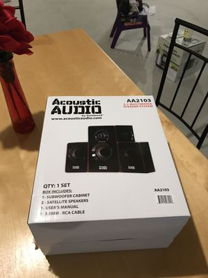 Acoustic Audio 2.1 Multi media speaker - AA2103 for Sale in Shelby Charter Township, MI