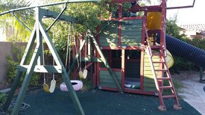 Play house with 3 slides and swing set. for Sale in Chandler, AZ