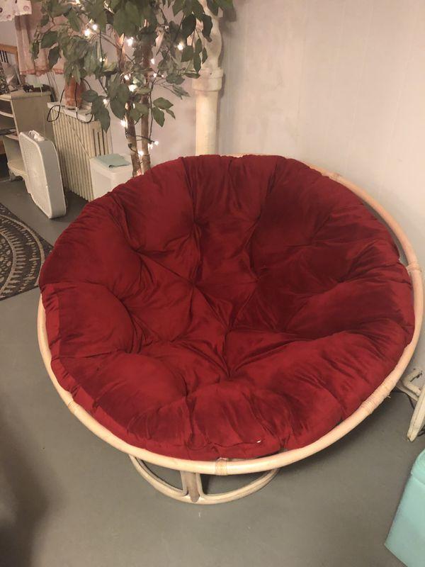 Large Red Papasan Chair