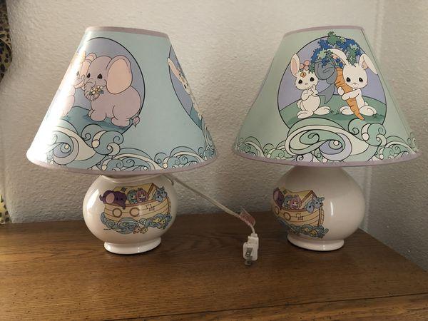 nursery lamps, precious moments