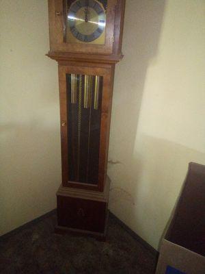 Tempus fugit grandfather clock for Sale in Fresno, CA