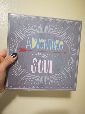 Adventure is in my soul wooden sign home decor for Sale in Sunnyvale, CA