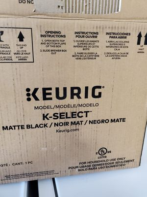 Keurig K-Select Coffee Maker, Single Serve K-Cup Pod Coffee Brewer, With Strength Control and Hot Water On Demand, Matte Black for Sale in Detroit, MI