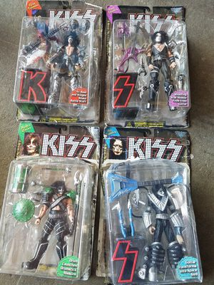 vintage 1990s mcfarlane toys kiss ultra action figures set of 4 gene, paul, ace for Sale in Federal Way, WA