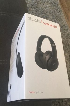 Studio 3 Wireless Beats by Dre (Matte Black) for Sale in Salt Lake City, UT