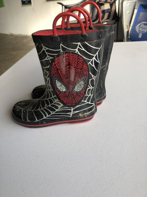 Spider-Man rain boots and umbrella for Sale in Puyallup, WA