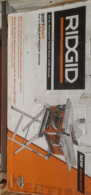 RIDGID 10IN TABLE SAW for Sale in Patterson, CA