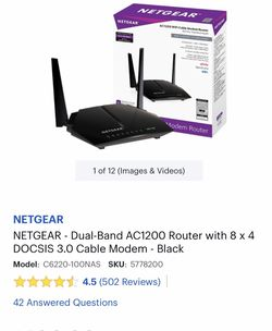 Netgear Dual Band Router-w-cable Modem for Sale in San Antonio,  TX