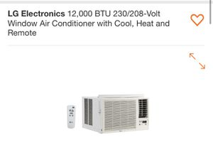 LG Electronics 12000 BTU 230/203 Volt Window AC with cool, Heat and Remote for Sale in Goodyear, AZ