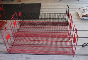 Rare 3 ea 1980s Coca-Cola Classic Metal Wire Rack Store Display Shelves for Sale in Garland, TX