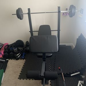 Workout Bench With Barbell for Sale in District Heights, MD