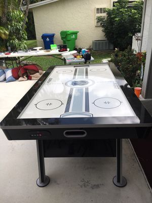 2 in 1 $175 obo . Air Hockey/Ping Pong table for sale with Accessories for Sale in Fort Lauderdale, FL