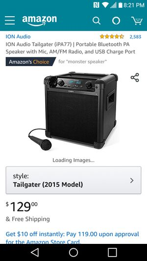 Ion bluetooth speaker for Sale in Delaware, OH
