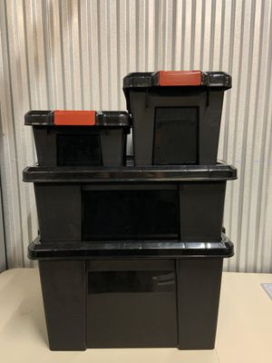 Container Store Store-It-All Totes / Storage Bins ($5-$15 each) for Sale in Fort Lauderdale, FL