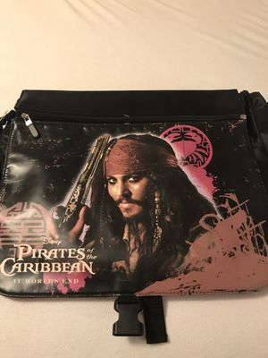 NWT Pirates of the Caribbean Messenger Bag w/ reversible cover for Sale in Arlington, TX