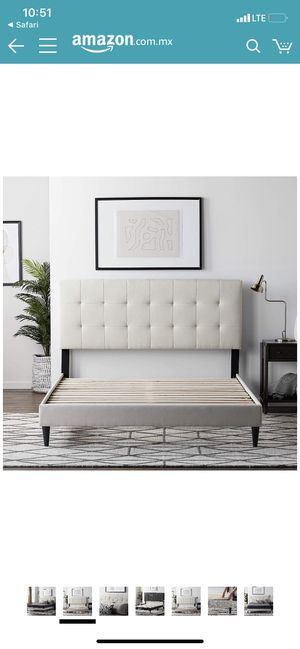 New in box lucid full size upholstered platform bed frame for Sale in Bakersfield, CA