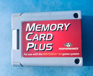 Nintendo 64 memory card plus for Sale in Pinetop, AZ