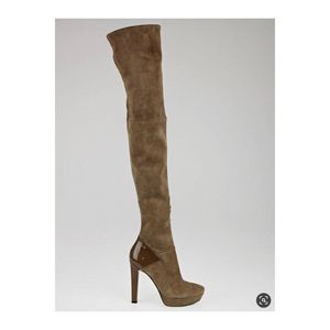 Gucci Taupe Suede Karen Over the Knee Boots for Sale in Houston, TX