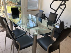 Kitchen dining table with 6 chairs and lazy susan. Cash only for Sale in Albertson, NY