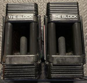 Power Block adjustable Weights Dumbbells 10-50 lbs for Sale in Buena Park, CA