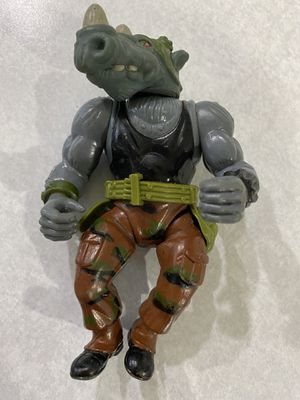 TMNT Rock Steady | Playmate Toys | Mirage Studio | 1988 | Vintage Action Figure for Sale in Sheridan, OR
