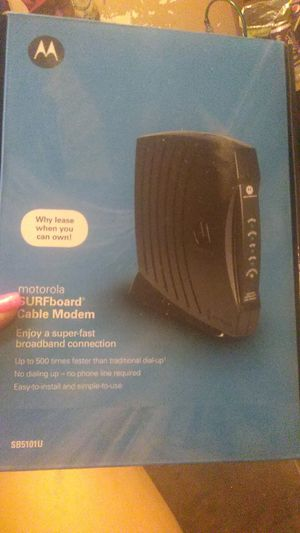 Motorola surfboard cable modem for Sale in Fort Worth, TX
