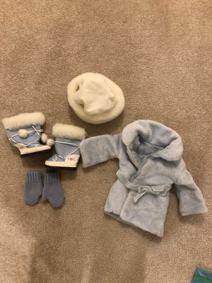 American Girl winter coat and boots set for Sale in Sudbury, MA
