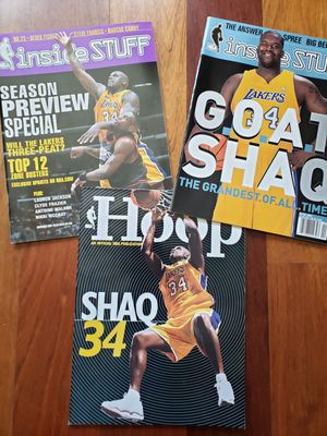 3 Shaquille O'neal Lakers NBA basketball magazines for Sale in Gresham, OR