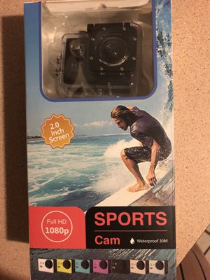 Brand new action camera 1080p waterproof with accessories for Sale in Miami, FL