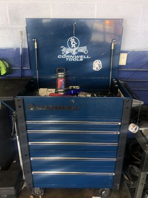 cromwell tool box with snap-on tools for Sale in Parkville, MD