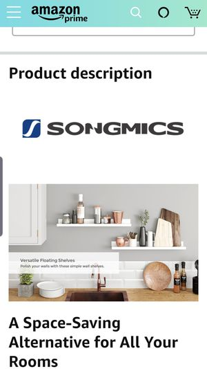 SONGMICS Floating Wall Shelves for Sale in West Covina, CA