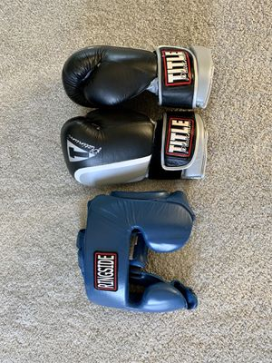Boxing Gloves and Headgear for Sale in Rockville, MD
