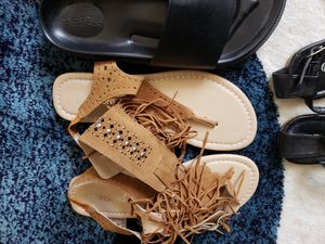 Women's fringe ankle flat sandals for Sale in Flower Mound, TX