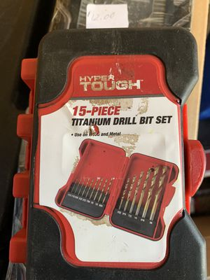 15 pcs hyper tough drill bit set for Sale in New Houlka, MS