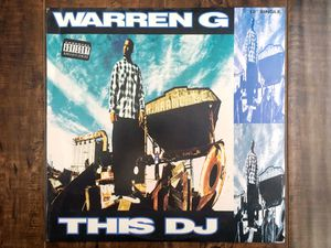 Warren G - THIS DJ vinyl LP record SINGLE 1994 852-237-1 • Nate Dogg • 213 for Sale in Cypress, CA