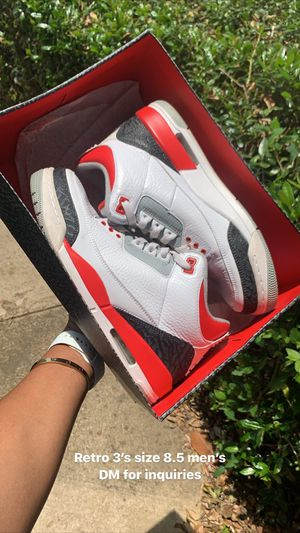 """RETRO JORDAN 3'S """"FIRE RED"""" SIZE 8.5 for Sale in Garland, TX"""