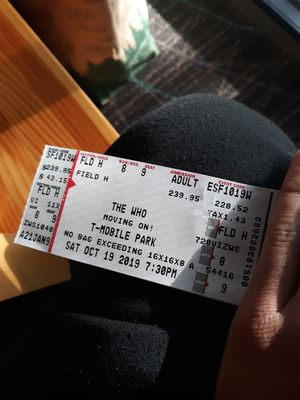 The Who ticket for Sale in Bellevue, WA