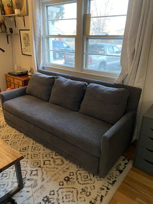 Crate and Barrel Pull Out Couch Trundle Sleeper Sofa for Sale in Denver, CO