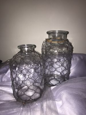 Set of small farmhouse vases for Sale in Chicago, IL