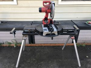 """Milwaukee 14"""" metal saw with table and custom miter for Sale in Bellevue, WA"""