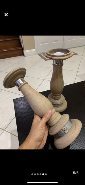 2 Wooden candles holders for Sale in Miramar, FL