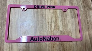Drive pink steel license plate cover for Sale in Tampa, FL