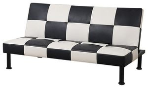 Brand New Checkered Leather Tufted Futon & Free Delivery for Sale in Renton, WA