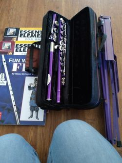Eastar Flute, Flute Book 1 For Band, Purple Music Stand for Sale in Las Vegas,  NV