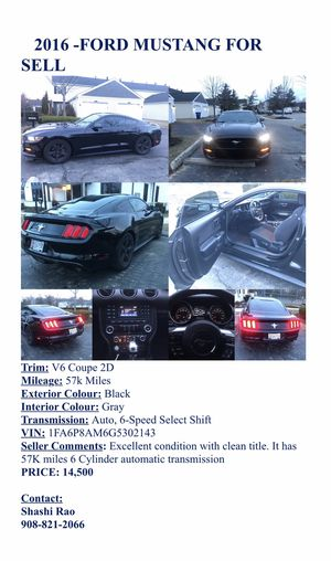 2016- mustang V6 for Sale in Westerville, OH
